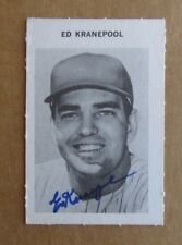 1969 MILTON BRADLEY BASEBALL ED KRANEPOOL AUTOGRAPHED SIGNED CARD NEW YORK METS