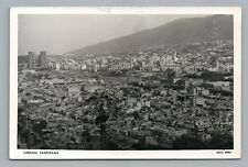 "Caracas Venezuela RPPC Antique Photo ""Panorama""—Foto Tarjeta Postal STAMP 1957"