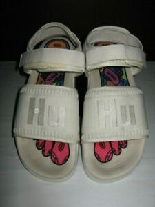 Adidas Adilette 2  HU Pharrell Williams  Sandals Size 10 White