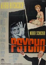Psycho Original 1960  Movie Poster Rare Vintage German A1 Alfred Hitchcock