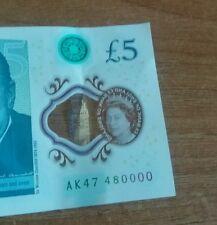 New 5 pound note £5 AK47 480000