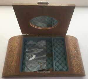 Vintage Collectible Wooden Jewelry Music Box 1930's 1940's
