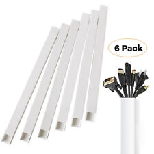 Cable Concealer On-Wall Cord Cover Raceway Kit - Hide Wire Cables 6 PackHide Wir