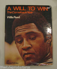 A WILL TO WIN THE COMBACK YEAR WILLIS REED G KALINSKY BOOK NBA BASKETBALL