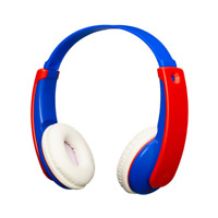JVC TINY PHONES KIDS WIRELESS BLUETOOTH HEADPHONES - BLUE/RED - HAKD9BTA