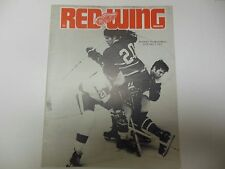 DETROIT RED WINGS NHL PROGRAM 1972 VS MONTREAL CANADIENS 1/2 OLYMPIA STADIUM