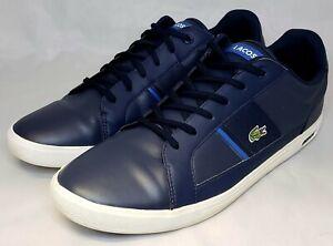 Lacoste Men's Europa Leather Sneaker's Size 14 Blue