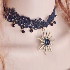 Choker Sol Negro Gargantilla Edelweiss Cinta Terciopelo Collar Gótico Aguja