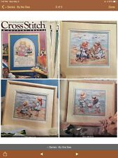"""New Listing3 Cross Stitch & Country Crafts Magazines, with """"By the Sea� Pattern Series"""