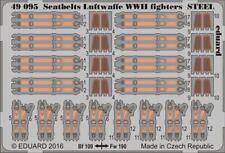 EDUARD 1/48 ceintures de sécurité LUFTWAFFE 2nd guerre mondiale Fighters acier #