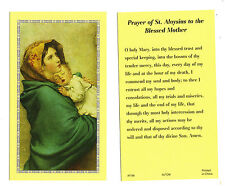 Prayer of St Aloysius to the Blessed Mother prayer card with Madonna