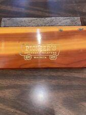 Vintage Pioneer's Arkansas Oilstone Washita Sharpening Stone In Wood Box