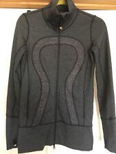 Lululemon women's In Stride jacket size 2 EUC dark gray heathered