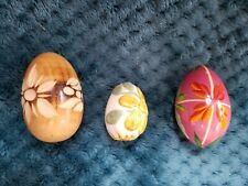 Vintage Easter Eggs Wooden, Ceramic, Hand Painted