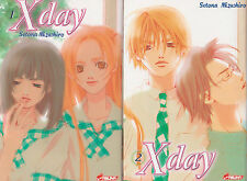 X DAY tomes 1 et 2 Setona Mizushiro SERIE COMPLETE manga shojo français épuisé