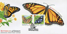 Kiribati 2015 FDC Butterflies 2v M/S Cover Insects Monarch Butterfly Stamps