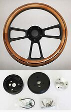 "Chevelle Nova Camaro Impala 14"" Steering Wheel Alder Wood on Black Spokes"