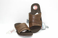 Men's Wembley Brown Slide Sandals Size LG