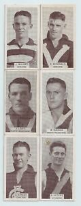 1933 Wills small size cigarette cards VFL lot of Six very good/Excellent