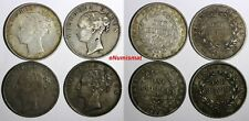 India-British Victoria Silver LOT OF 4 COINS 1840 1 Rupee KM# 457