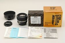 [MINT+++] Nikon Ai-s Nikkor 50mm f/1.2 AIS MF Lens w/ Hood HS-12 From Japan