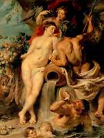 PAINTING PORTRAIT ALLEGORY RUBENS UNION EARTH WATER POSTER ART PRINT BB12534B