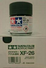 Tamiya acrylic paint XF-26 Deep green 23ml.