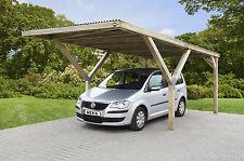 Einzelcarport + PVC Trapezplatten 3x6 m Carport Holz Garage Pfosten 12x12 cm