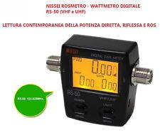 Nissei Rs-50 Rosmetro/wattmetro Digitale Vhf/uhf frequenza da 125 a 525 MHz