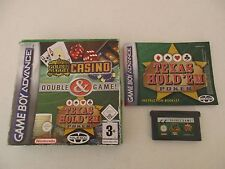 GOLDEN NUGGET CASINO & TEXAS HOLD EM POKER - NINTENDO GAME BOY ADVANCE Complet