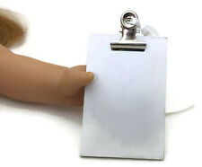 """Mini White Clipboard made for 18"""" American Girl Doll Clothes Accessories"""