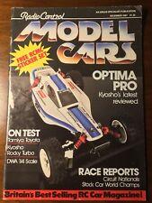 Vintage Radio Control Model Cars Magazine DEC 1987 Optima Pro 4WD Rocky Turbo