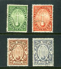 VATICAN 1933  Holy Year Set of 4  SG15-18 Used