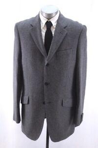 NEW charcoal twill BANANA REPUBLIC blazer jacket sport suit coat tailored 46 L