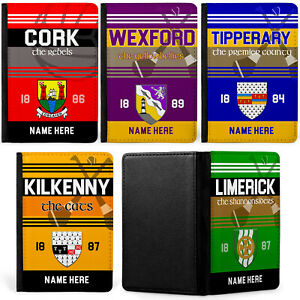 Personalised GAA Passport Case Travel Gaelic Football Hurling Cover Gift GN
