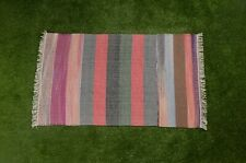 Floor Kilim Rugs Jute Area Rug Hand loomed Rustic Rugs Indian Handwoven 3X5-8
