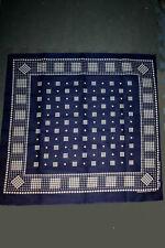 VTG 60s TOWER Blue Bandana Polka Dot Fast Color Western Cowboy Handkerchief