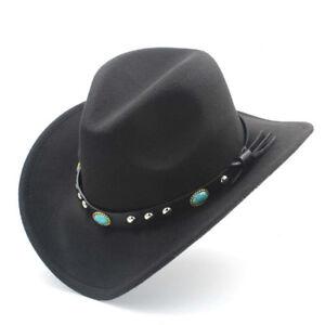 Fashion Cute Boys Girls Wool Western Cowboy Hat Kid Party Clothing Show Jazz Cap