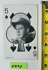 Fred Mac Murray Poker Face Black 5 of Spade Clubs 1950's Marketing