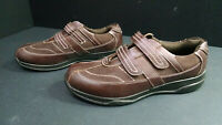 Soft Stags Men's Hook And Loop Brown Walking Shoes, Size 10.5D
