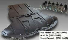 VW Passat B5 Audi A4 Skoda Belly Pan Shield Under Engine & Gearbox Cover + Clips