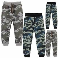 Kids Camo Sweatpants Boys Unisex Elasticated Waist Joggers Army Jogging Bottoms