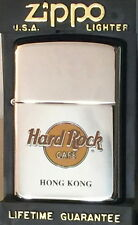 Hard Rock Cafe HONG KONG Silver Chrome ZIPPO Lighter Classic HRC LOGO New in Box