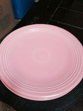 "TWO 12"" Homer Laughlin Genuine Fiesta Rose Dinner Plates"
