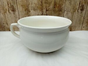 Large Vintage 9 Inch Diameter White Beswick Chamber Pot Potty Planter
