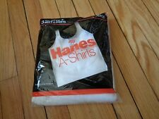 Vintage Hanes Men's A-Shirts 3 in Package Nos Xl Tank Tops Undershirts White