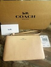 NEW Coach Very Light Pink F58032 Corner Zip Wallet tags, insert & gift box