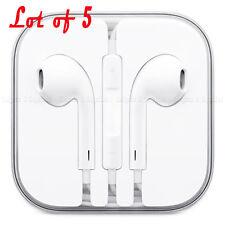 Lot of 5 Original OEM Apple iPhone 5 5C 5S EarPods Earphone Headphone Remote+Mic
