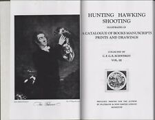 Hunting, Hawking, Shooting. Books Manuscripts Schwerdt Martino Mansfield  E2.227