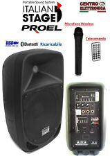 Cassa Amplificata Attiva Portatile a Batteria Ricaricabile USB SD MP3 BLUETOOTH